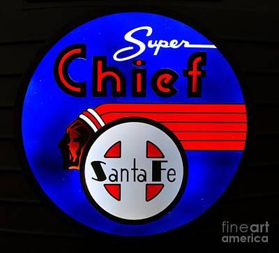 Photograph - Santa Fe Super Chief by Steven Parker