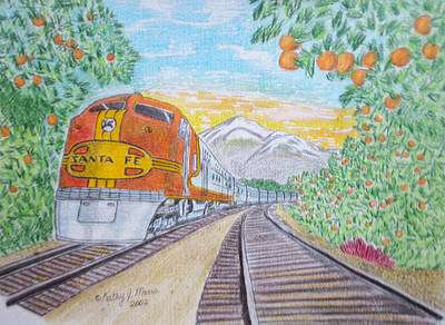Santa Fe Super Chief Train Art Print