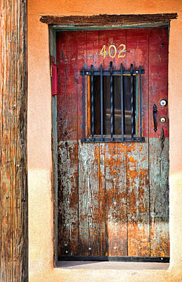 Photograph - Santa Fe Weathered Entry by Robert Meyers-Lussier