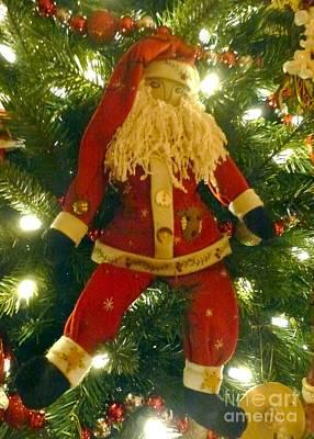Photograph - Santa Got Hung Up by Barbie Corbett-Newmin