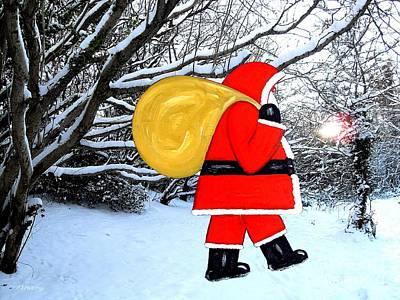 Santa In Winter Wonderland Art Print by Patrick J Murphy