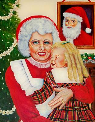 Painting - Santa by Joni McPherson