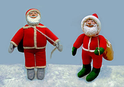Sculpture - Santa Jr. And Sr. by David Wiles