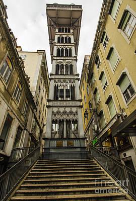 Flight Of Stairs Photograph - Santa Justa Lift by Deborah Smolinske