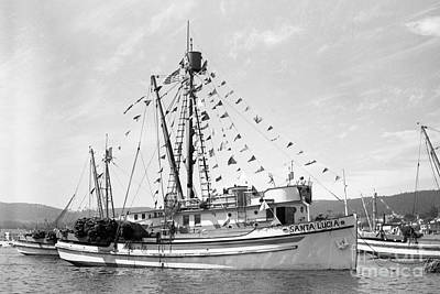 Achieving - purse seiner Santa Lucia in Monterey Harbor by California Views Archives Mr Pat Hathaway Archives