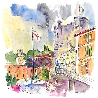Santa Margherita In Italy 07 Print by Miki De Goodaboom