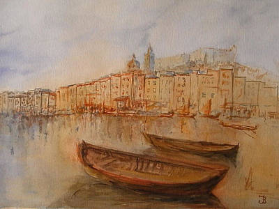 Santa Margherita Ligure Art Print by Juan  Bosco