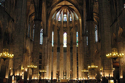 Photograph - Santa Maria Del Mar Basilica II by Kathy Schumann