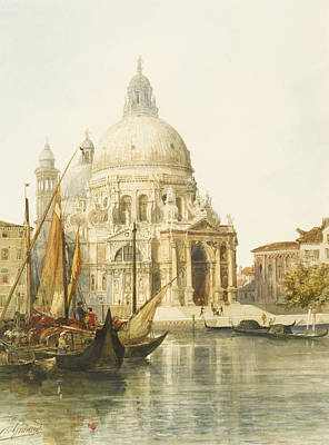 Boat Drawing - Santa Maria Della Salute by Jacques Guiaud