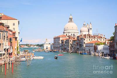 Santa Maria Della Salute On The Grand Canal In Venice Art Print by Matteo Colombo