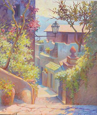 Amalfi Art Painting - Santa Maria Di Castellabati Italy by Ernest Principato