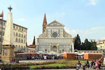 Photograph - Santa Maria Novella by Valentino Visentini