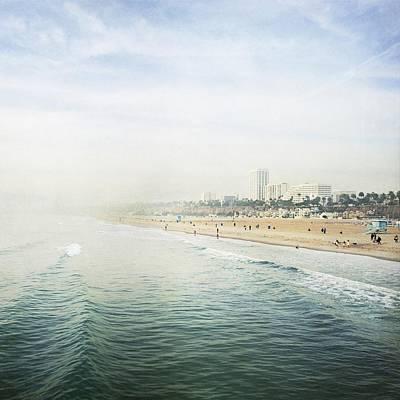 Santa Monica Wall Art - Photograph - Santa Monica Beach  by Bree Madden