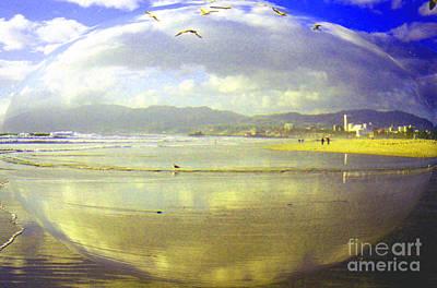 Santa Monica Beach Art Print by Jerome Stumphauzer