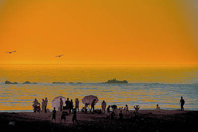 Photograph - Santa Monica Beach Sunset by Ben and Raisa Gertsberg