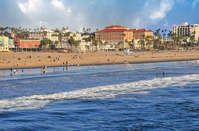 Santa Monica Beach View  Art Print by Lynn Bauer