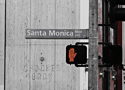 Black And White Photograph - Santa Monica Blvd. by William Towner