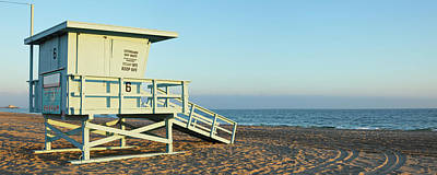 Water Photograph - Santa Monica Lifeguard Station by S. Greg Panosian