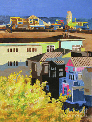 Santa Monica Art Print by Nancie Johnson