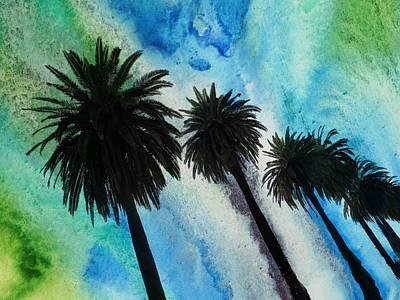 Santa Monica Mixed Media - Santa Monica Palms by Irena Orlov
