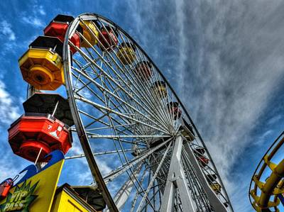 Photograph - Santa Monica Pier 006 by Lance Vaughn