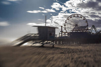Photograph - End Of The Day Or Times At Santa Monica Pier by Scott Campbell