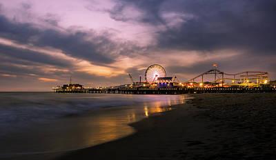 Santa Monica Pier Blue Hour Original by Jerome Obille