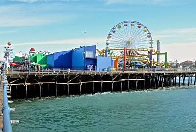 Photograph - Santa Monica Pier by Corinne Rhode