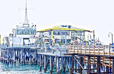 Santa Monica Pier Art Print