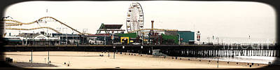 Photograph - Santa Monica Pier Panorama by John Rizzuto