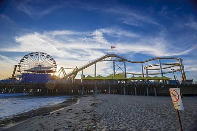 Event Horizon Santa Monica Pier Sunset Art Print by Scott Campbell