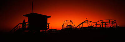 Rollercoaster Photograph - Santa Monica Pier, Santa Monica Beach by Panoramic Images