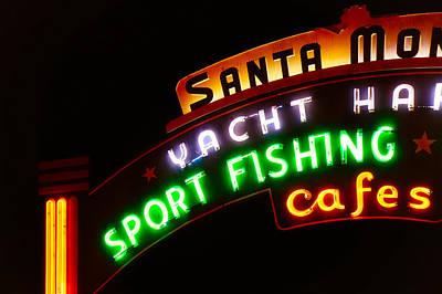 Photograph - Santa Monica Pier Sign by Michael Hope