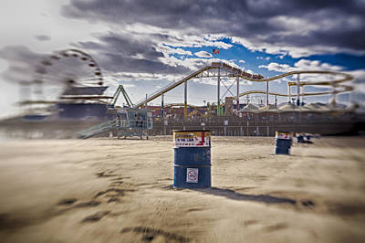 Photograph - End Times At Santa Monica Pier by Scott Campbell