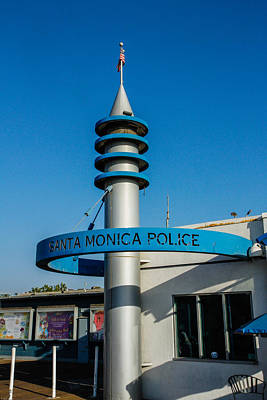 Photograph - Santa Monica Police Department by Robert Hebert