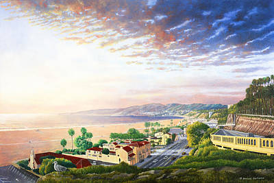 Santa Monica View North Art Print