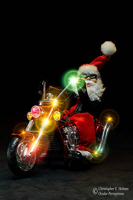 Photograph - Santa Motoring by Christopher Holmes