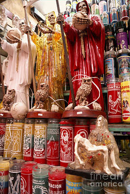 Photograph - Santa Muerte Figures Mexico by John  Mitchell