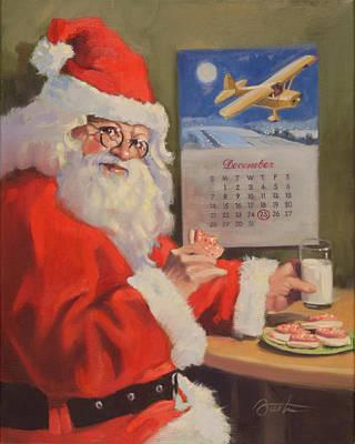 Kringle Painting - Santa Nan 2 by Todd Baxter