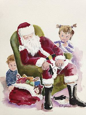 Painting - Waiting Up For Santa by Gertrudes  Asplund