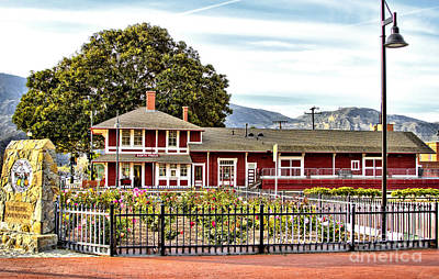 Santa Paula Train Station Art Print