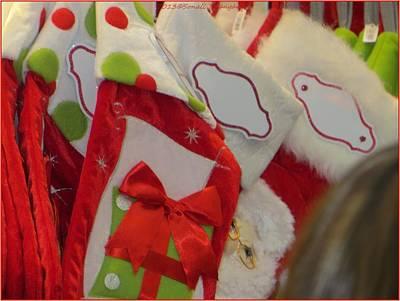Santa Peek A Boo Art Print