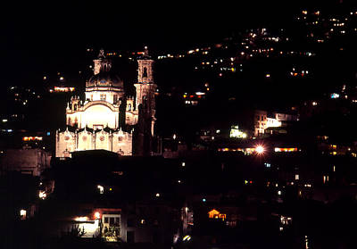 Photograph - Santa Prisca At Night by Robert  Rodvik