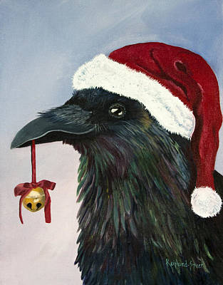 Painting - Santa Raven by Amy Reisland-Speer