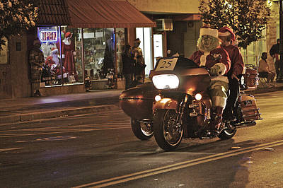 Photograph - Santa Rides by SC Heffner