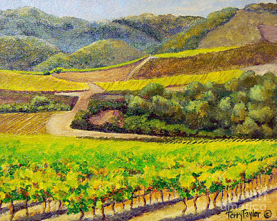 Central Coast Winery Painting - Santa Rita Color by Terry Taylor