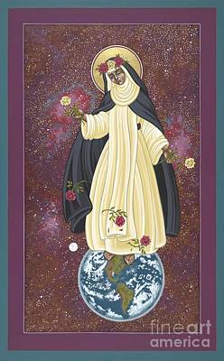 Painting - Santa Rosa Patroness Of The Americas 166 by William Hart McNichols