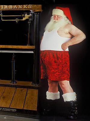 Santa Scaling Back Art Print