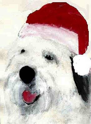 Mixed Media - Santa Sheepie by Cathy Howard