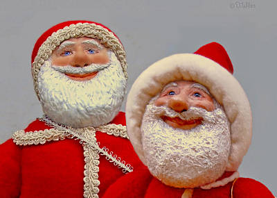 Sculpture - Santa Sr. And Jr. - Quality Time by David Wiles